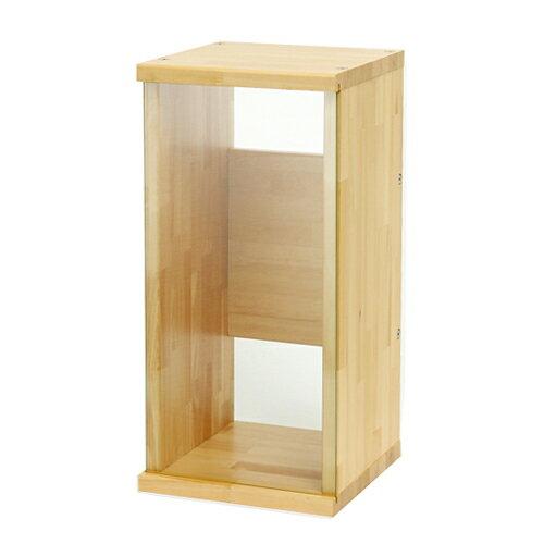 アクロ キャビネット 3030 ナチュラル木目 透明ガラスパネル 30cm水槽用 水槽台