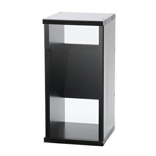 アクロ キャビネット 3030 ブラック 透明ガラスパネル 30cm水槽用 水槽台