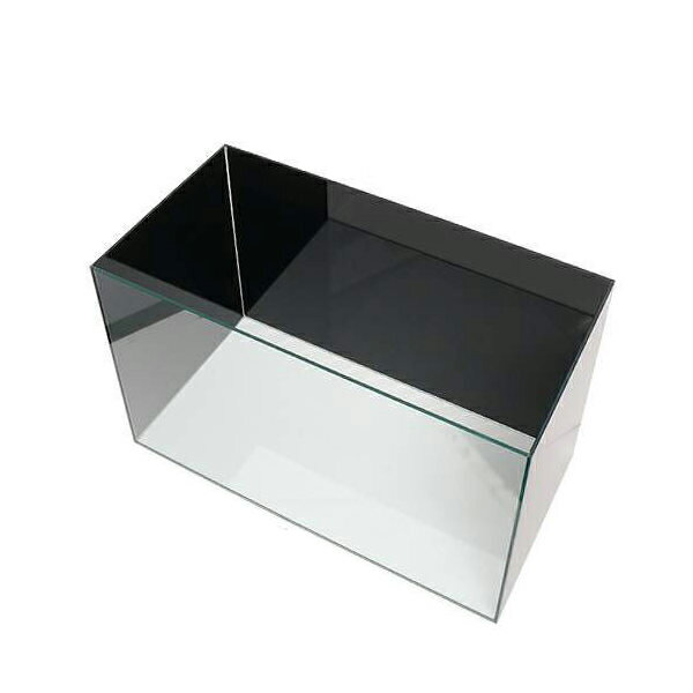 バックスクリーン貼付済 GEX グラステリア スリム450水槽 ジェットブラック 三面タイプ 45cmスリム水槽