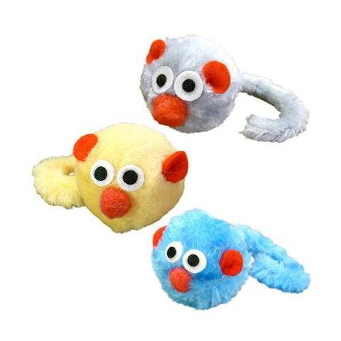 キャティーマン じゃれ猫 にゃんにゃんTOY カラコロマウス 1個(色おまかせ) 猫 猫用おもちゃ ねずみ ドギーマン 関東当日便