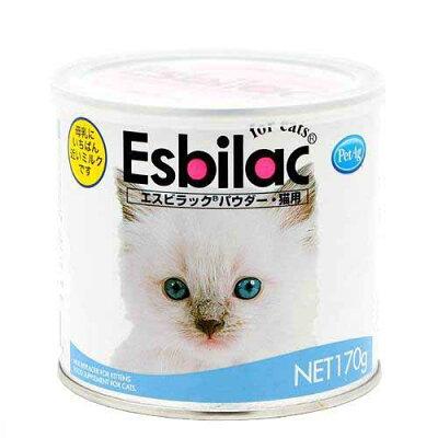 共立製薬 エスビラック パウダー 猫用ミルク 170g 哺乳期・養育期の子猫用 猫 ミルク 関…