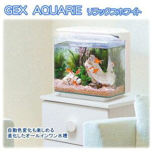 GEX 一体型30cmインテリア水槽セット アクアリエ リラックスホワイト 初心者 関東当日便