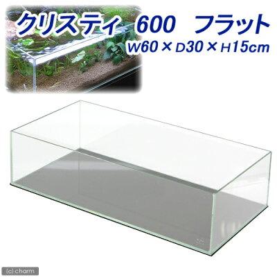 高級感あふれる透明感!クリスティ 600 フラット W60×D30×H15 60cm水槽(単体)