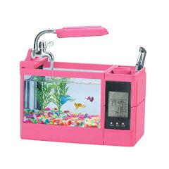 自分だけの水槽を作ろう!ミニインテリア水槽 fanity(ファニティ) ピンク FA−3 関東当日便