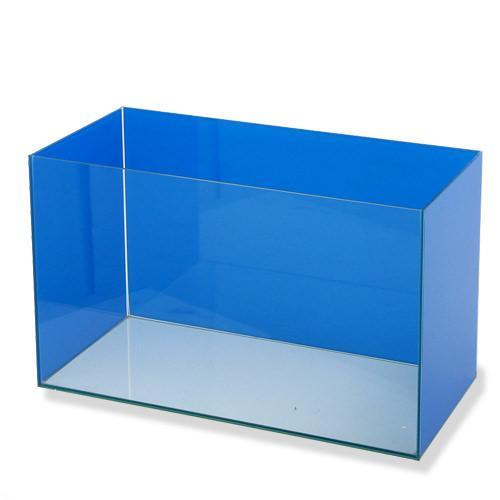バックスクリーン貼付済 ブルー三面タイプ オールガラス60cm水槽 アクロ60N
