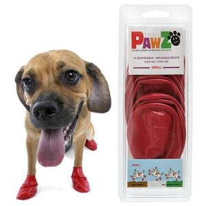 ワンちゃんの肉球を保護!Pawz ラバードッグブーツ S レッド 犬用 ゴム製使い捨てブーツ ...