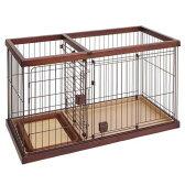 ペティオ トイレのしつけが出来る ドッグルームサークル ブラウン スモール 犬 超小型犬 ケージ 関東当日便