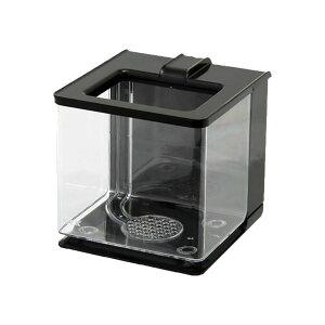 アクア用品1>プラスチック水槽GEX 楽アクア ブラック 小型水槽 関東当日便
