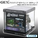 GEX グラステリアBZサイレント 300キューブ 30cmキューブ水槽 ブラック お一人様1点限り 関東当日便