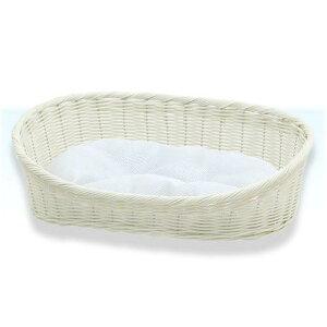 犬用品>ベッド・ハウス・マット>ベッドペットプロ 手編みカラーベッド M ホワイト 犬 猫...
