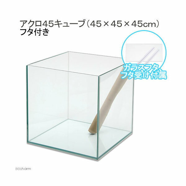 45cmキューブ水槽アクロN45キューブ(45×45×45cm)フタ付き オールガラス水槽 Aqullo