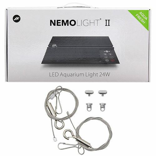 マーフィード NEMO LIGHT 2 アクアフレッシュ 24W 淡水用 + 吊り下げワイヤーセット 〜45cm水槽 タイマー付き
