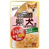 愛犬元気ベストバランス 国産鶏ささみ パウチ 柴犬用 60g 72袋入り 関東当日便