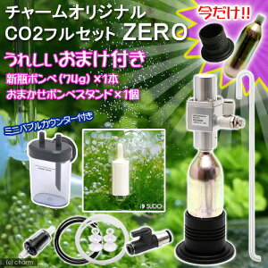 うれしいおまけ付きセット!チャームオリジナルCO2フルセット ZERO ミニバブルカウンター付き...