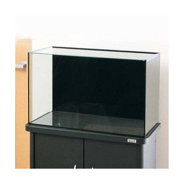 バックスクリーン貼付済 ジェットブラック オールガラス60cm水槽 アクロ60N ブラックシリコン