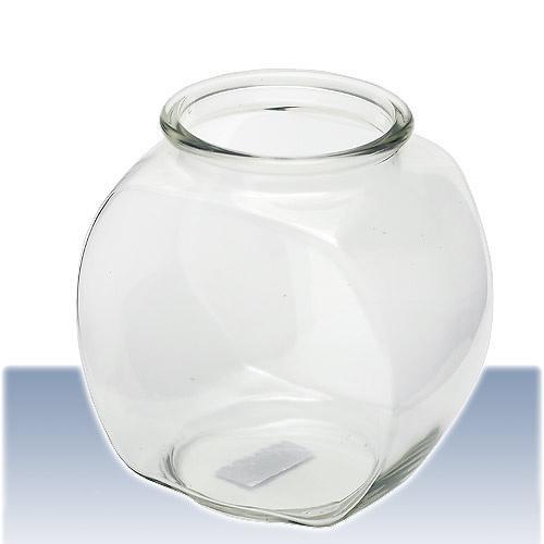 おしゃれな国産ガラス製 金魚鉢 3L 訳あり