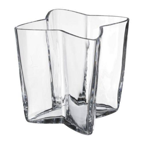 花瓶 16cm クリアガラス