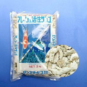 魚がイキイキと発育!フレッシュ活性サンゴ 2kg LL 関東当日便