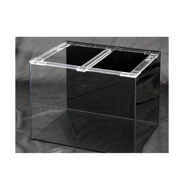アクリル水槽 アクリルクリアタンク 底面・背板黒(90×45×45cm・板厚5×5×5mm)90cm水槽