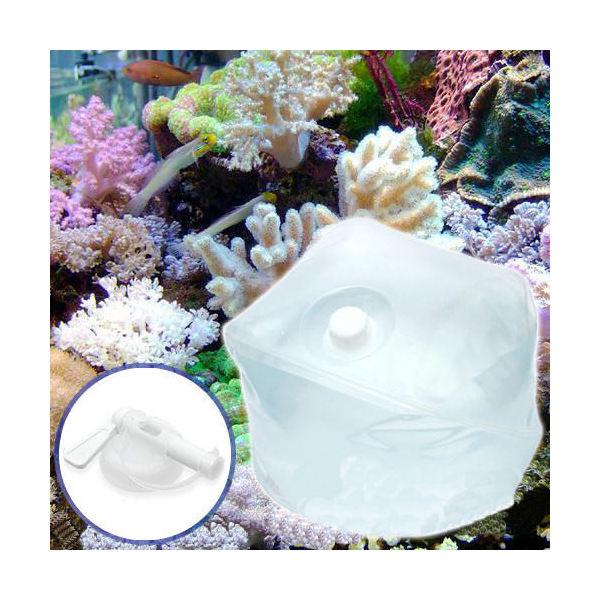 (海水魚)足し水くん テナーボトル コック付き 天然海水(海洋深層水) 60リットル 同梱不可・航空便不可 送料無料