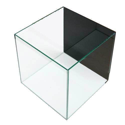 クリスタルキューブ300(30×30×30cm)バックスクリーン(ジェットブラック)貼付済み 30cm水槽