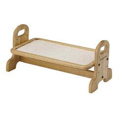 ドライバーひとつで組み立て簡単!ウッディーダイニング S 犬用・猫用食器台 トレー 関東当...
