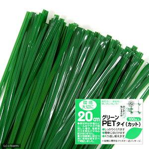 使いみちいろいろ!グリーンPETタイ カットタイプ 20cm(100本入)【関東当日便】