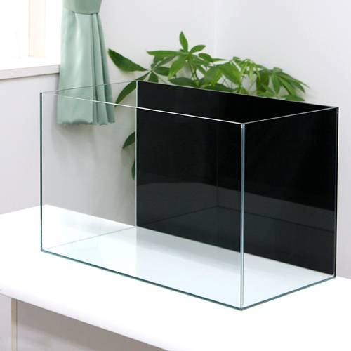 バックスクリーン貼付済 ジェットブラック オールガラス60cm水槽 アクロ60N(60×30×36cm)