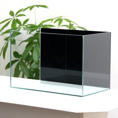 バックスクリーン貼付済 ジェットブラック オールガラス45cm水槽 アクロ45N(45×27×30cm)