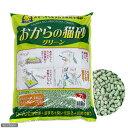 トイレに流せる!☆おからの猫砂グリーン 7L 【あす楽対応_関東】