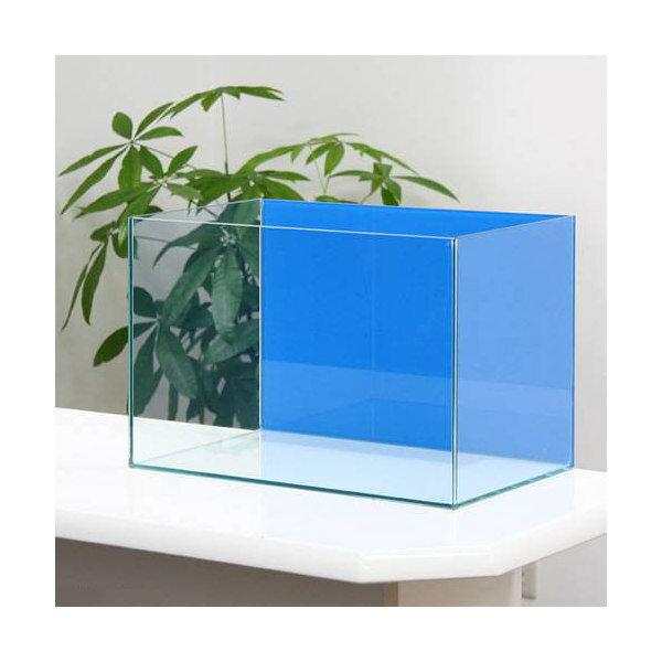 45cm水槽バックスクリーン貼付済 アクアブルー アクロ45N(45×27×30cm)オールガラス水槽