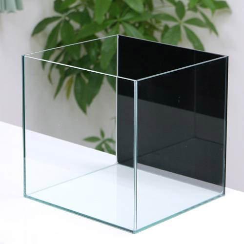 バックスクリーン貼付済 ジェットブラック オールガラス27cm水槽 アクロ27N(27×27×27cm)