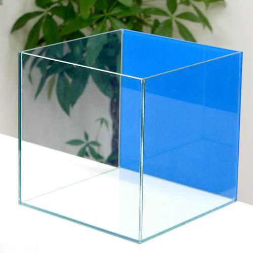 バックスクリーン貼付済 アクアブルー オールガラス27cm水槽 アクロ27N(27×27×27cm)