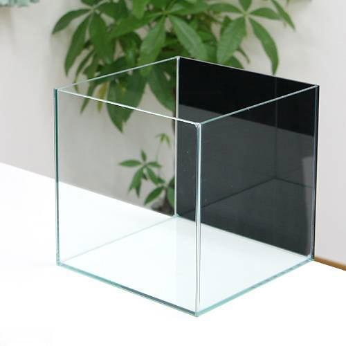 バックスクリーン貼付済 ジェットブラック オールガラス25cm水槽 アクロ25N(25×25×25cm)