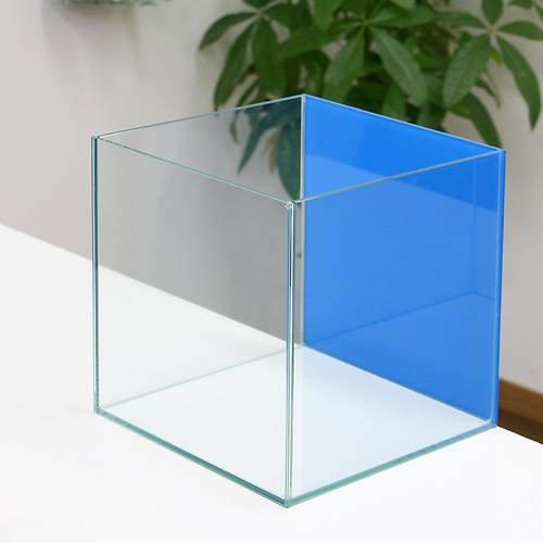 バックスクリーン貼付済 アクアブルー オールガラス25cm水槽 アクロ25N(25×25×25cm)