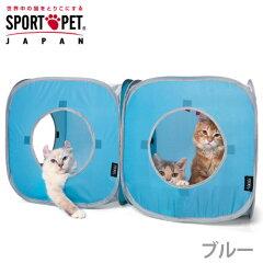 お得な2個セット!SPORTS PET キャット プレイキューブ ブルー 2個セット 【あす楽対応_関...