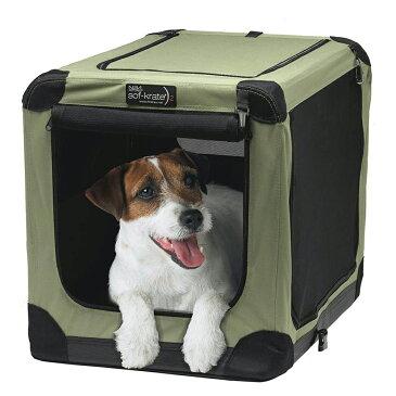 ソフクレート n2 M 小型犬 中型犬用 犬 キャリーバッグ クレート(13.6kgまで) ゲージ サークル 折りたたみ 関東当日便