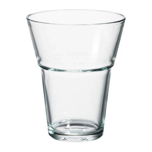 花瓶 18cm クリアガラス
