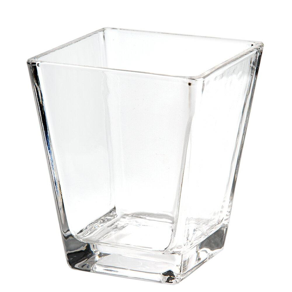 ガラスベース スクエアグラス L エアプランツ 多肉植物 ティランジア ガラス