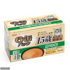 なめて食べられる!アイシア 15歳からの健康缶6缶パック かつおとろとろペースト 40g×6 キ...