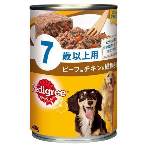 ペディグリー 7歳以上用 ビーフ&チキン&緑黄色野菜 400g 24缶 ペディグリー 高齢犬用 関東当日便
