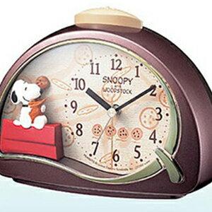 【正規品】リズム時計 クロック CITIZEN シチズン 4SE506MJ09 目覚まし時計 キャラクター時計 スヌーピーR506