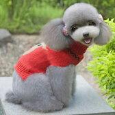 ドッグウエア Autumn Cloth 秋 冬 犬用服 ペット用品 reindeer pattern sweater Red レッド 赤 セーター