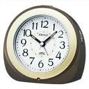 SEIKO セイコー クロック KR331B 目覚まし時計 自動点灯 電波時計 BROWN ブラウン