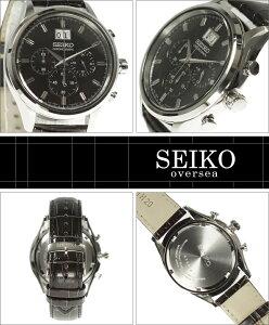 海外SEIKO海外セイコー腕時計SPC083P2メンズクロノグラフ