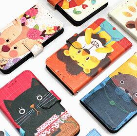 【ChangingMyLifeオリジナル商品】iPhone77PLUSiPhone6SiPhone6iPhoneSEiPhone5SiPhone5アニマル手帳型ケースかわいいおしゃれキャラクターシリコンカバー手帳アイフォン7iPhone7ケースネコ猫6S65S手帳型ケースストラップホールスマホケース