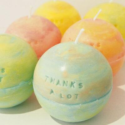 メッセージ キャンドル 『THANKS A LOT』ブルー系感謝 ありがとう バースデイ バースデー ケーキ キャンドル 記念 アロマキャンドル かわいい おしゃれ 雑貨 誕生日ブライダル 結婚式 ウェディング 父の日 お中元 暑中見舞い