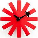 時計 GEORGE NELSON ジョージネルソン アスタリスククロック レッド ホワイト ブラック ジョージ・ネルソン サンバースト 家具 デザイナーズ 太陽 壁 掛け おしゃれ かわいい ウッド カラフル 北欧 父の日 花 お中元 夏