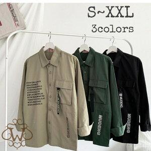 メンズ ファッション トップス カジュアル ミリタリー ワーク シャツ ジャケット アウター メンズ カーキ ブラック ベージュ 秋 冬 春 おしゃれ 長袖 トップス S M L XL 2XL XXL