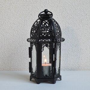 キャンドルランタン 【WINDY】 ウィンディー黒  キャンドルホルダー  テーブルランプ
